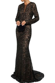 Shop on-sale Sequined tulle gown. Browse other discount designer Gowns & more luxury fashion pieces at THE OUTNET Coat Dress, Jacket Dress, Short Gown Dress, Formal Wear, Formal Dresses, Dress Outfits, Fashion Outfits, Naeem Khan, Tulle Gown