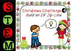 Christmas STEM Challenge - Number 4 - Build An Elf Zip Line