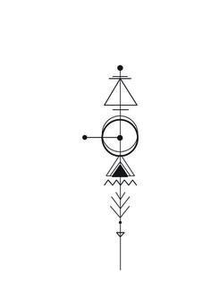 geometric illustration tattoo - Google Search