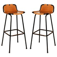 Beautiful Leather Sling Bar Stool