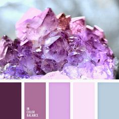 amethyst color, colour of violet orchids, colour palette for a winter wedding… Purple Color Palettes, Pastel Palette, Colour Pallette, Colour Schemes, Color Combinations, Pantone, Color Concept, Amethyst Color, Color Balance