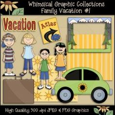 AS4896 Family Vacation #1 Clip Art Download