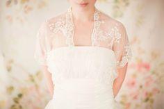 Bridal Cover-up, Bolero, lace, jacket - Style 221 | Sibo Desigs | Etsy
