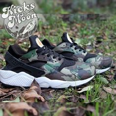 Great #customs #Nike Air #Huarache #Camouflage Customs by Kicks On The Moon | SneakerFiles #kicks #sneakers