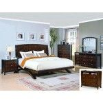 Crown Mark - 5-PC w/ 2-NS Fifth Ave Contemporary Cherry Queen Platform Bedroom Set - 59H5150QSET5NS  SPECIAL PRICE: $2,073.00