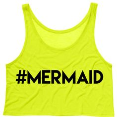 Hashtag Mermaid Crop Tank Top (120 CNY) ❤ liked on Polyvore featuring tops, mermaid, drape top, yellow tank top, drapey tank, yellow crop top and crop tank