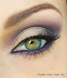For Green and Hazel Eyes - Silvers & Purples eye make up....beauty and cosmetics (makeup)