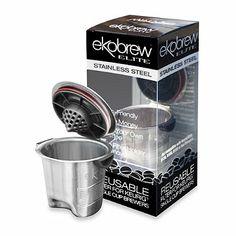 Ekobrew Stainless Steel Elite Reusable Cup for Keurig® K-Cup® Brewing System - BedBathandBeyond.com