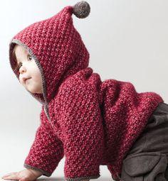 Modèle paletot à capuche bébé