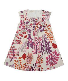 Take a look at this White & Purple Floral Harp Dress - Toddler by Cavelle Kids on #zulily today!