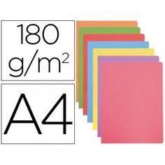 Prácticas y funcionales estas subcarpetas de archivo DIN A-4, fabricadas en cartulina de 180 gramos en colores surtidos en tonos pastel