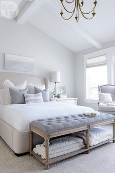 51 Cozy Grey Style Bedroom Designs With Upholstered/Tufted Headboard Trend