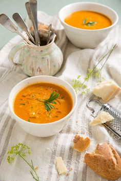 garlicky creamy roasted tomato soup - I just made this for dinner and it is super good. I cut down on the garlic and cream and added basil