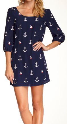 Anchor shift dress