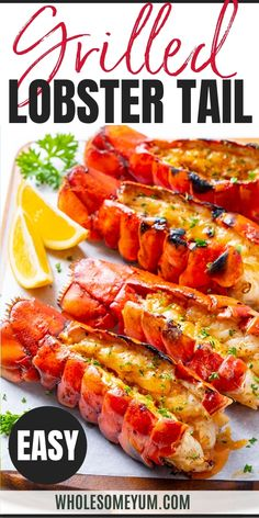 Grill Lobster Tail Recipe, Lobster Recipes, Lobster Tails, Seafood Recipes, Lobster Bisque, Diet Recipes, Shepherds Diet, Low Carb Dinner Recipes, Keto Dinner