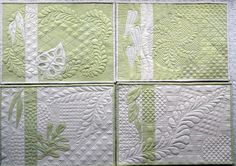 Set of four placemats created by Suzanne Cameron using the Ultimate Backgrounds.  WOW.