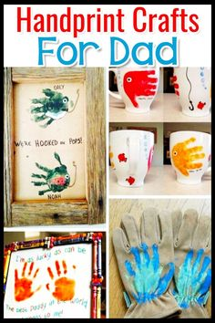 Fathers Day Crafts for Preschoolers, Toddlers and kids of all ages. Easy Crafts for Kids to Make for Dad for Father's Day or his Birthday