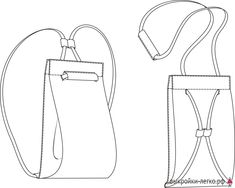 Pattern of a bag-backpack Diy Sewing Projects, Sewing Crafts, Mochila Jeans, Simple Bags, Easy Bag, Backpack Pattern, Easy Sewing Patterns, Handmade Handbags, Fabric Bags