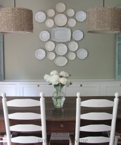 Plate wall, cottage and vine: The Rest of the Kitchen