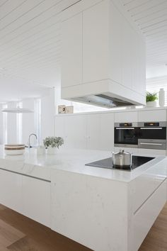 Modern White Kitchens modern clean that sense of you have it all together.. lol at least