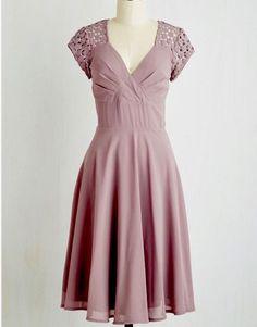 Modcloth Put a Bard On It Dress in Dusty Lilac Sz L $150.00 #ModCloth