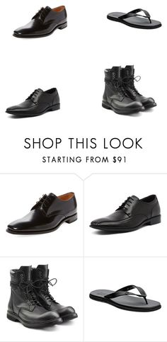 """Black men shoes"" by abbylud on Polyvore featuring Loake, Julius Marlow, men's fashion and menswear"
