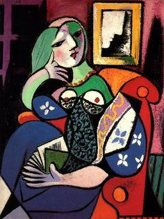 Femme tenant un livre (Marie-Therese Walter), Pablo Picasso