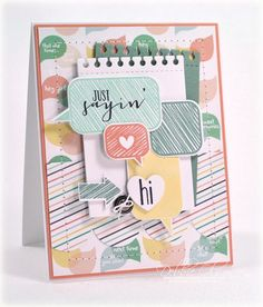 PTI Bubble Talk, Die: Spiral Notebook, Large Scallop Edge