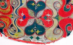 Swedish folklore bag embroidery from Leksand in Dalarna, eighteenth century