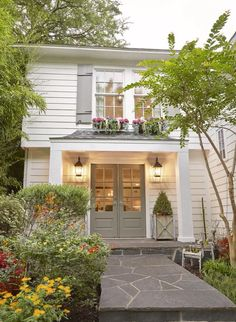 Exterior Paint Colors - You want a fresh new look for exterior of your home? Get inspired for your next exterior painting project with our color gallery. All About Best Home Exterior Paint Color Ideas Exterior Paint Colors For House, Paint Colors For Home, Diy Exterior House Painting, House Shutter Colors, Grey Exterior, Exterior Design, Farmhouse Renovation, White Houses, Curb Appeal