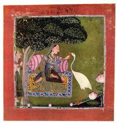 Sorathi Ragini. Rajput painting, Pahari school Basohli, 1695-70