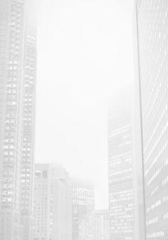 White cityscape