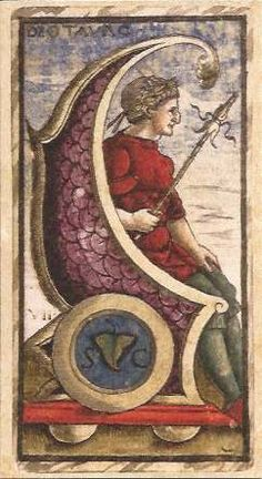 VII Major Arcana from SOLA BUSCA Alchemical tarot-deck .Another version of the Chariot card. Tarot Cards Major Arcana, Tarot Prediction, Symbolic Art, New Museum, Roman History, Tarot Card Decks, Oracle Cards, Deck Of Cards, British Museum