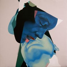 Oil painting on canvas - part of the Bisou series by Beata Chrzanowska