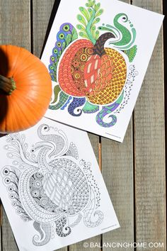 Coloring Pages Free Printable Fall Pumpkin