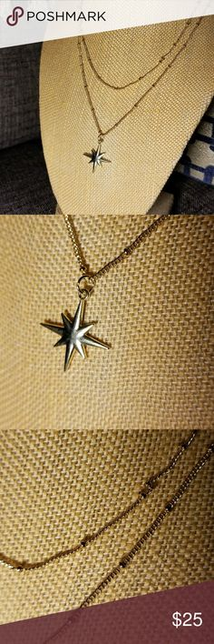 Starburst 14k plated dainty necklace Starburst vintage inspired bohemian necklace. Charm 14k plated, necklace is not. Great layered or worn alone. Message with questions! Vintage Jewelry Necklaces