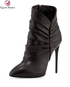 c520277fe7fd 71.39  Buy here - Original Intention Design Women Ankle Boots High-quality  Pleated Thin