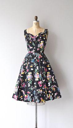 Alla Campanga dress vintage 1950s dress black by DearGolden