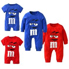 2017 New fashion baby boys girls clothes newborn blue and red Long sleeve Cartoon printing Jumpsuit Infant clothing set Available now at babyneedsnow.com