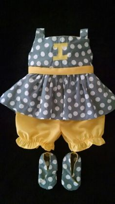 Handmade dress, bloomers, and shoes