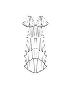 Schnittmuster Kleid - Stufen - V-Ausschnitt 11/2010 #116
