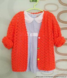 Crochet: jacket for girl