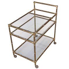 60's Italian bamboo bar cart
