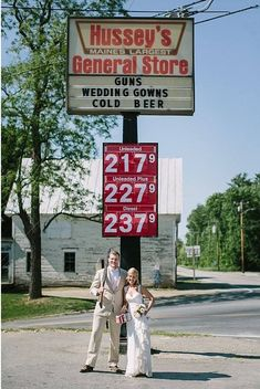 Guns, Wedding Gowns, Cold Beer - Rackedclockmenumore-arrow : Hussey's General Store in Windsor, Maine, might seem like an unexpected place to buy a dress for your big day, but customers say it's just right.