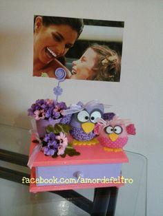 porta joias e porta retrato - facebook.com/amordefeltro