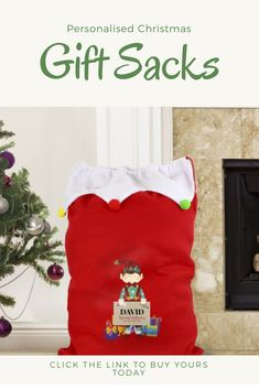 Duke Gifts Personalised Christmas Santa Sack Red Add your own name kids gift idea kids children xmas