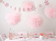 """Party Pom & Tulle Pom Pom, Party and Room Décor 