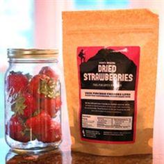 Dried strawberries.