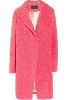 J.Crew Wool-blend bouclé coat. I want this coat. Paired with a white shirt, jeans and bronze accessories would be perfect and you could go from day to night with just changing into a pencil skirt... Sexy