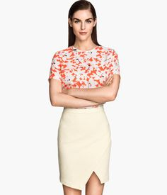 H&M White Wrap Skirt... this would be great for summer.